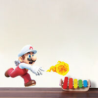 Super Mario Flame Wall Decals Nintendo Wallpaper Stickers Mario Game Room, e15