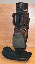 Genuine Bennington Golf Green & Brown Carry Golf Club Bag Only **READ**
