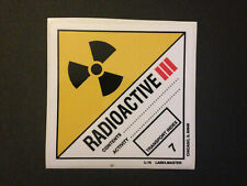 RADIOACTIVE Sticker Plutonium-Box Zurück in die Zunkuft Back to the Future BTTF