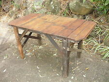 Rustic Vintage Chunky Industrial Work Bench Australia Timber Table Desk DELIVERY