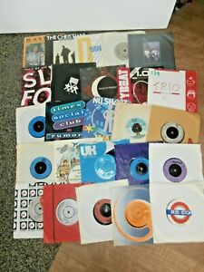 "#3~MIXED 7"" SINGLE Record BUNDLE~1970's/80's~25 SINGLES~FREE UK POST"