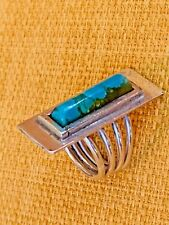 ring size 4 Vintage Turquoise Sterling Mexican