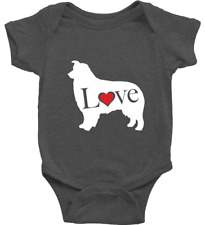Australian Shepherd Love Dog Infant Baby Rib Bodysuit Outfit Shiloh Shepherd