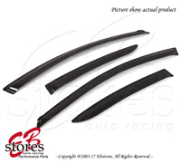 For Mazda Mazda3 Sedan 2010-2013 Outside-Mounted Dark Smoke JDM Window Visor 4pc