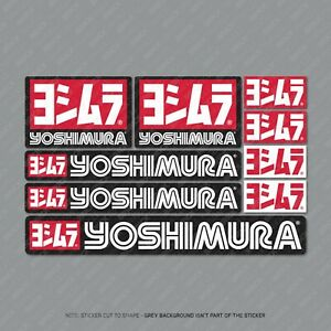 Yoshimura Stickers Motorcycle Decals Set A5 Sheet Of 9 Stickers - SKU2210