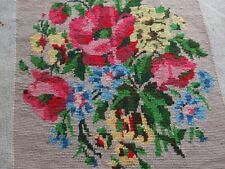 antique hand worked tapestry floral