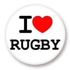 Magnet Aimant Frigo Ø38mm ♥ I Love You j'aime Sport Rugby
