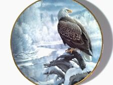 Vintage Eagle Collector Plate,Winter in the Valley,Seasons of the Bald Eagle