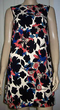 WAREHOUSE Floral Print Sleeveless Round Neck Summer Dress Size 6  RRP £59