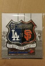 Sf Giants 60th Anniv Giants-Dodgers West Coast Rivalry Pin 4/8/2018 only 20,000