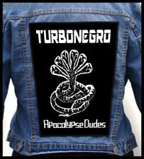 TURBONEGRO - Apocalypse Dudes  --- Huge Jacket Back Patch Backpatch