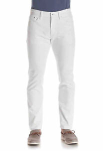 NEW MENS NAUTICA INSPIRED BY THE SEA ATHLETIC FIT FROST WHITE WASH JEANS 31 x 32