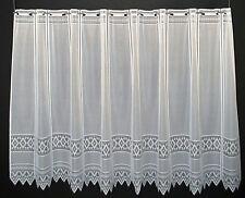 Scheibengardine Jacquard grafisch 90x13 Weiß Gardine nach Maß