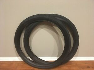 Two (2) Vee Rubber Heavy Duty 26x3.0 Flame Bicycle Fat Tires All Black V287