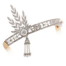 Black Feather 1920s Flapper Headpiece Headband Great Gatsby Dress Accessories