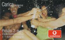 3868 SCHEDA TELEFONICA USATA RICARICA VODAFONE CARICA ESPLOSIVA 31-12-2009
