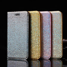 Magnetic Leather Glitter Flip Bling Wallet Cover Case For Samsung Galaxy S8 S7