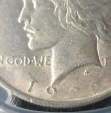 1922 PCGS AU55 VAM-12A Moustache Peace Silver Dollar, Weak Date, Double Error