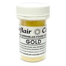 GOLD - Sugarflair Essbar Zucker Streusel Lebensmittelfarbe Für Kuchen Dekorieren