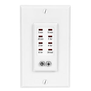 DEWENWILS Bathroom Timer Switch In-Wall Countdown Light Timer for Fan HICT08W