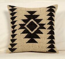 Wool Jute Cushion Cover Throw Indian Vintage Cushions Handmade Kilim Rug Pillow