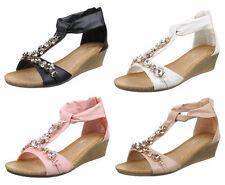 Elegante Damen-Sandalen & -Badeschuhe mit Keilabsatz/Wedge für Mittlerer Absatz (3-5 cm)