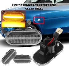 Pair LED Side Indicators Repearer Marker Light Lamp for Renault Clio