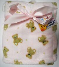 "My Baby Super Plush Lil Brown Bear Blanket 30"" x 36"""