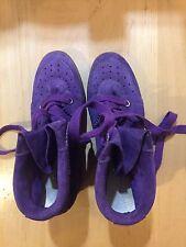 New Isabel Marant purple suede shoes sneakers built in hidden heel 41