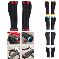 1Pair MTB Mountain Bike Bicycle Handlebar Grips Rubber Non-slip Cycling Lock-On