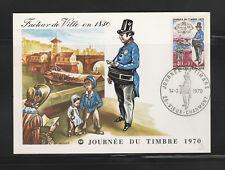 carte  1er jour   journée du timbre  25  Vieux Charmont   1970
