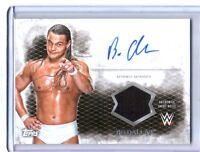WWE Bo Dallas 2015 Topps Undisputed Autograph Relic Card Black