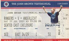 Ticket - Rangers v Anderlecht 21.07.01 John Brown Testimonial