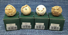 New Listing4 Lot Harmony Kingdom Roly Polys Marble Resin Figurines Set Mint in Boxes