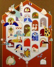 "David Sharir ""A Gate For the Birdhouse"" Hand Signed Art Serigraph Israeli Artist"