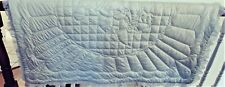QUILTED BABY BLANKET/QUILT WITH BABY ELEPHANT VINTAGE? BABY BLUE COLOR UNUSED?