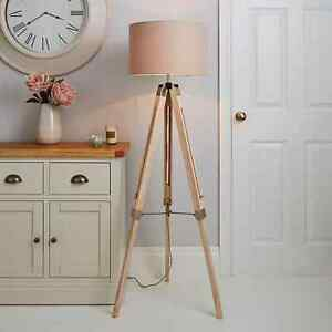 Trio Tripod Light Wood Floor Lamp