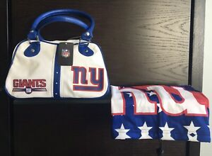 NFL NY GIANTS OFFICIAL NFL GIRLS BAG+ ADJUSTABLE NYG NECK/MOUTH GAITER-NEW/TAGS