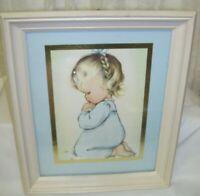 Little Blonde Girl Framed Print A Child's Prayer by Charlotte Byi