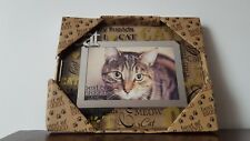 CAT Glass Picture Frame 6'' x 4'' NEW