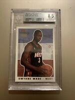 2003 Fleer Tradition Dwyane Wade Draft BGS 8.5 But PSA Quality Rookie RC /375