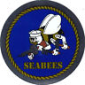 US NAVY SEABEES 3 INCH STICKER - DECAL - MADE IN THE USA!!