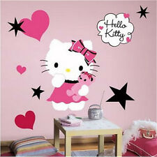 "HELLO KITTY COUTURE wall stickers MURAL 13 decals room decor 20"" tall cat Sanrio"