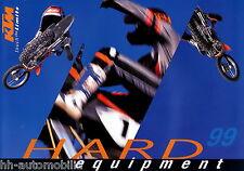 KTM Hard Equipment Prospekt 1999 brochure Broschüre Motorradprospekt broschyr
