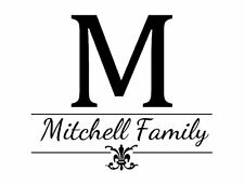 """Personalized Family Name Wall Decal Monogram #19 Living Room Vinyl 15"""" Tall"""