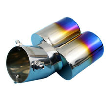 Universal Truck Dual Outlet Muffler Exhaust Tail Pipe Tip 63mm 2.5 Inch Caliber