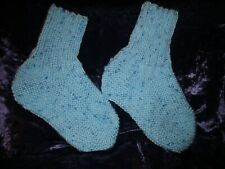 Hand Knitted Ladies Bed socks Blue