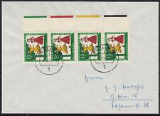 92) Bund Brief MEF 486 FRS kompl Farbrandstreifen 4 Farben rechts Berlin 8.12.67
