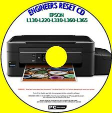EPSON L130-L220-L310-L360-L365 PRINTER WASTE INK PAD COUNTER RESET NEW PC CD