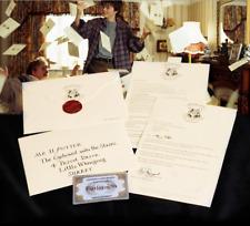 Harry Potter School Acceptance Letter Hogwarts Platform Ticket Envelope Cosplay